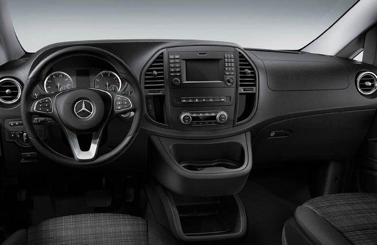 Front dash of 2020 Mercedes-Benz Metris Cargo Van