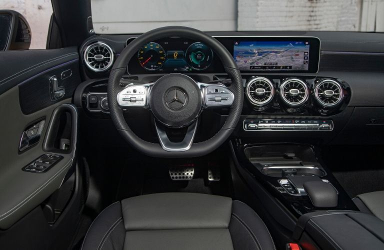 Interior front dash of 2020 Mercedes-Benz CLA