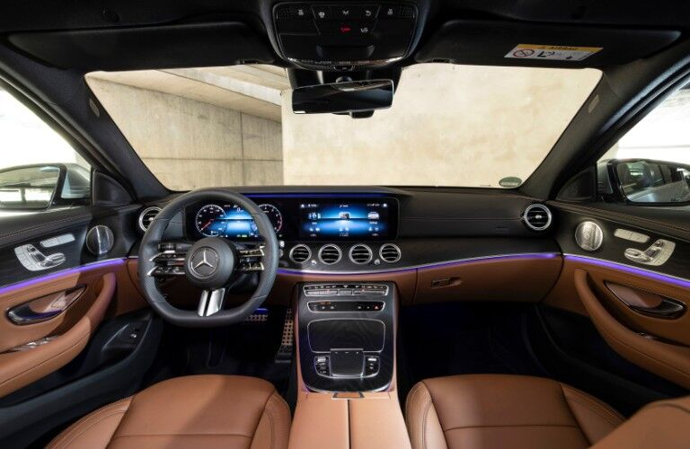 Interior front dash of 2021 Mercedes-Benz E-Class