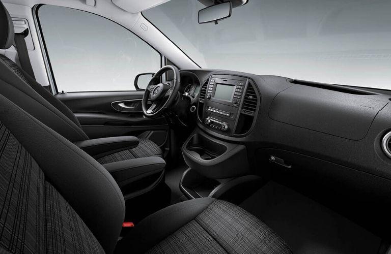Interior front seat of 2020 Mercedes-Benz Metris Cargo Van