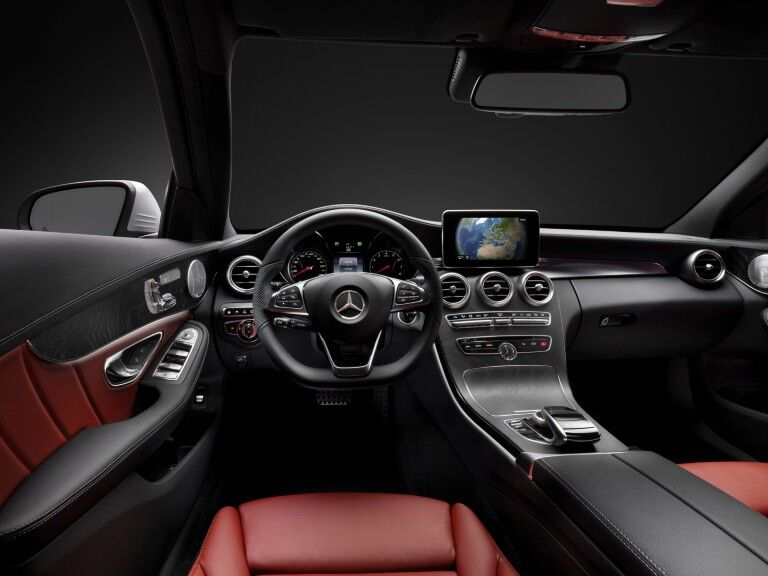 Interior of 2015 Mercedes-Benz C-Class sedan