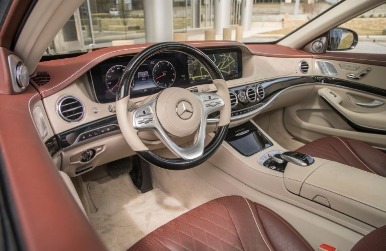Interior front dash of 2018 Mercedes-Maybach