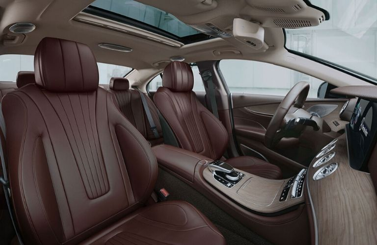 Interior of 2020 Mercedes-Benz CLS showing front and back seats