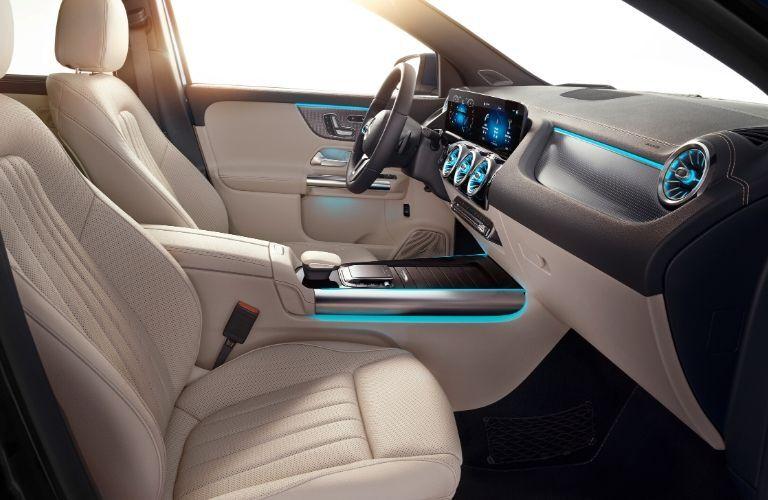 Interior of 2021 Mercedes-Benz GLA