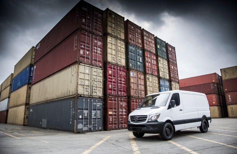 Mercedes-Benz Sprinter van in container port