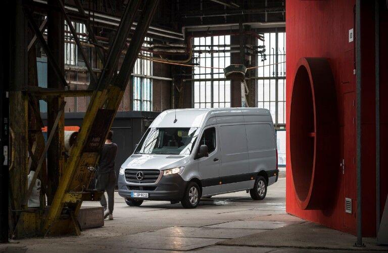Mercedes-Benz Sprinter van in warehouse
