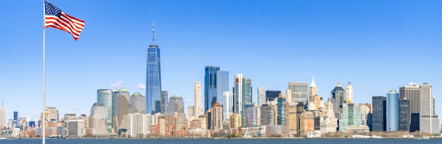 Panoramic view of Manhattan skyline