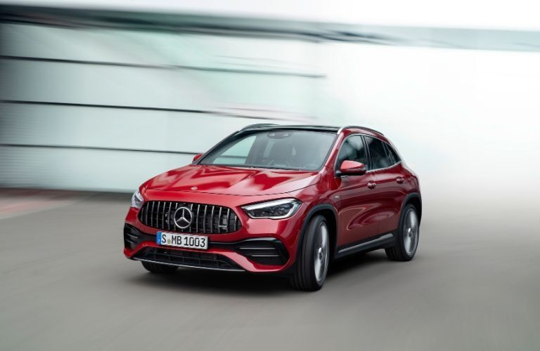 Red 2021 Mercedes-Benz GLA