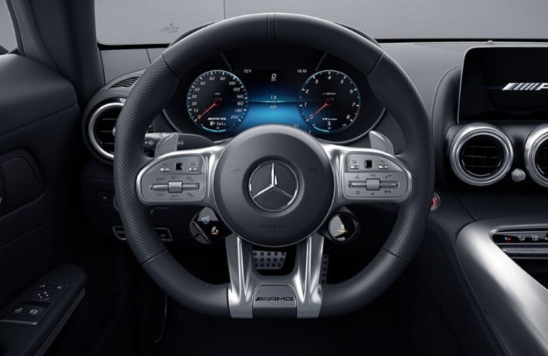 Steering wheel in 2020 Mercedes-AMG GT