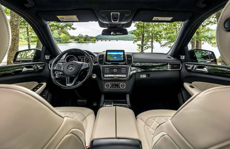 front interior of an unnamed Mercedes-Benz vehicle