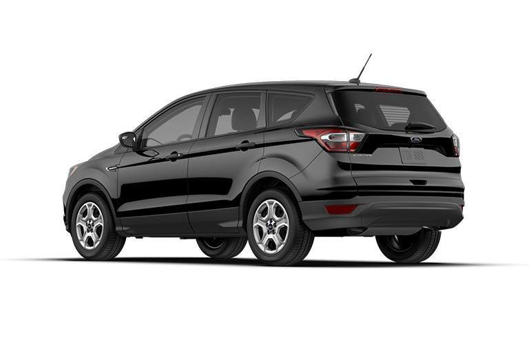 Rear View of Black 2018 Ford Escape