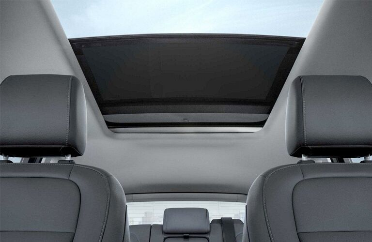 Moonroof and Dark Grey Seats of 2018 Ford Escape