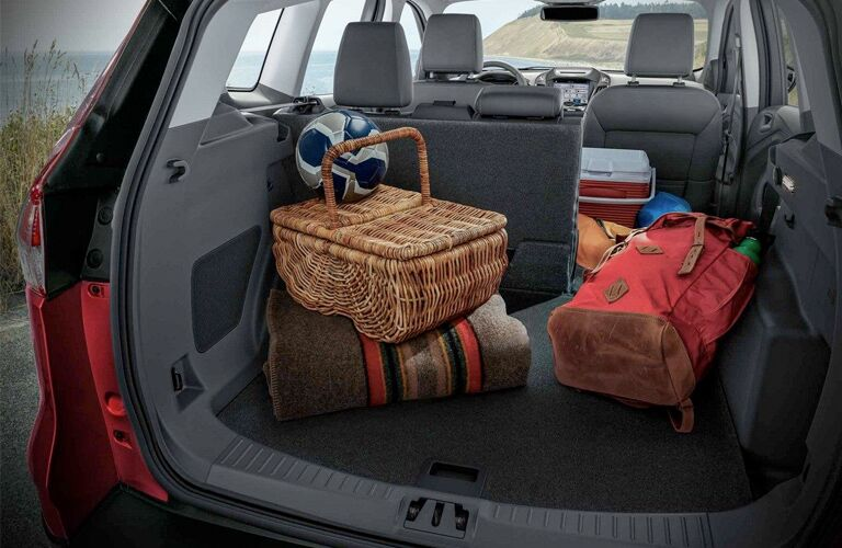 Storage Items in the Cargo Area of a 2018 Ford Escape