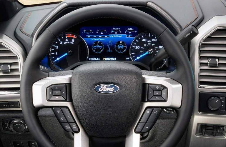 Steering Wheel and Gauges of 2018 Ford Super Duty