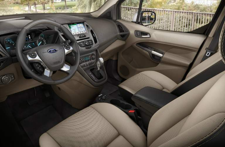 2018 Ford Transit Connect Passenger Wagon Dashboard and Light Brown Seats