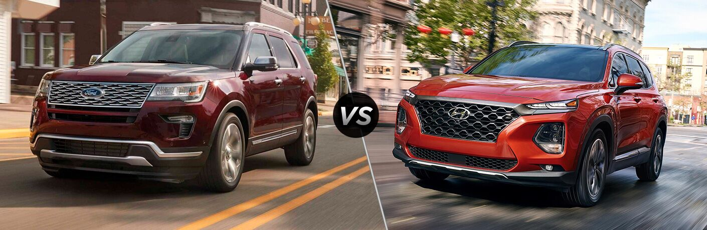 2019 Ford Explorer vs 2019 Hyundai Santa Fe