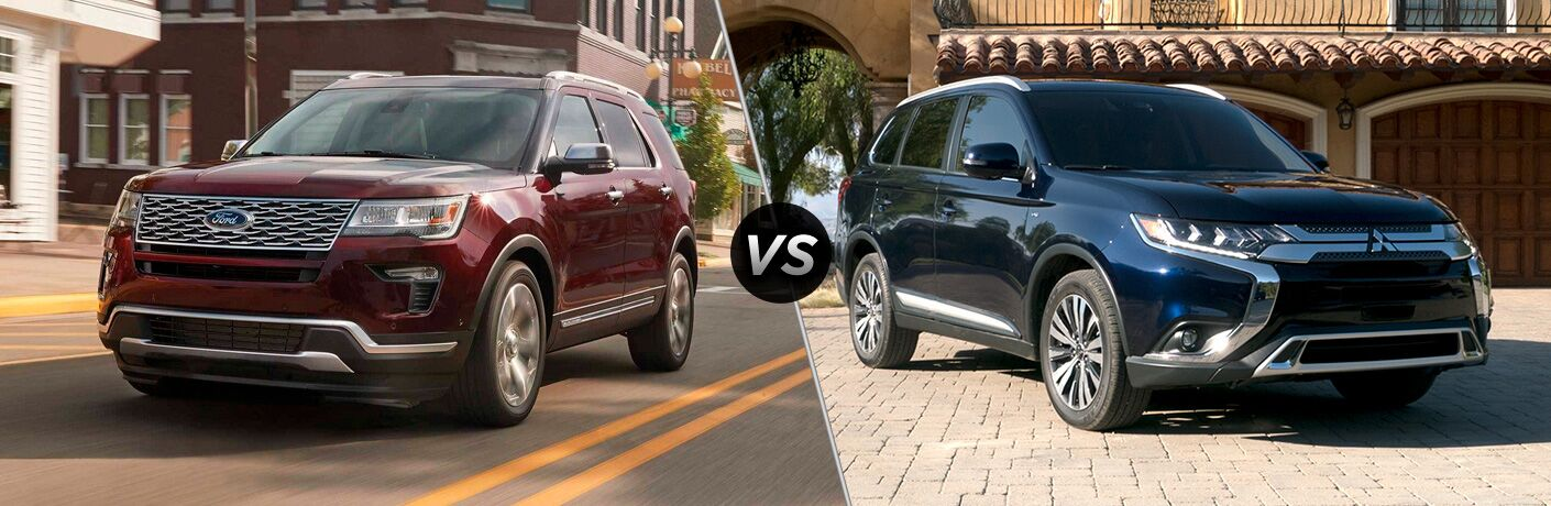 2019 Ford Explorer vs 2019 Mitsubishi Outlander