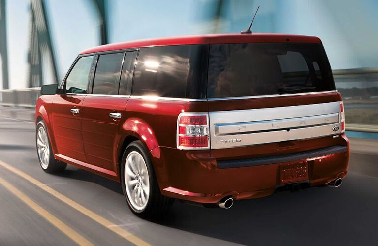 2019 Ford Flex red on the highway
