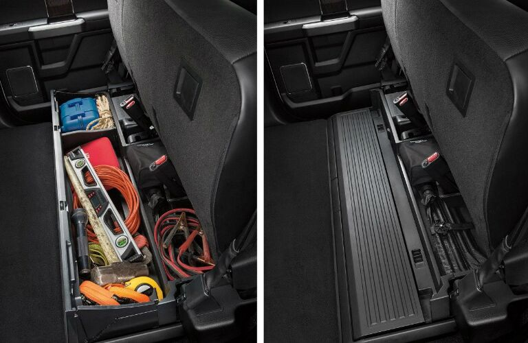 2020 Ford F-350 rear seat storage