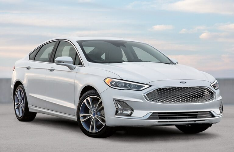 2020 Ford Fusion under a cloudy sky