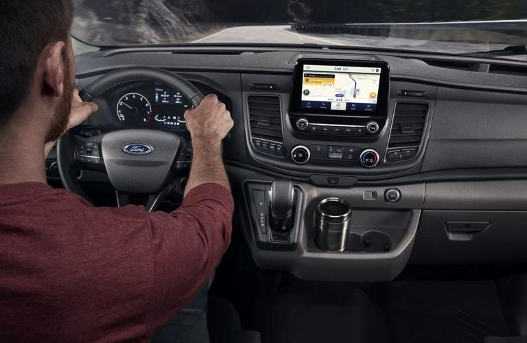 2020 Ford Transit interior dash and wheel
