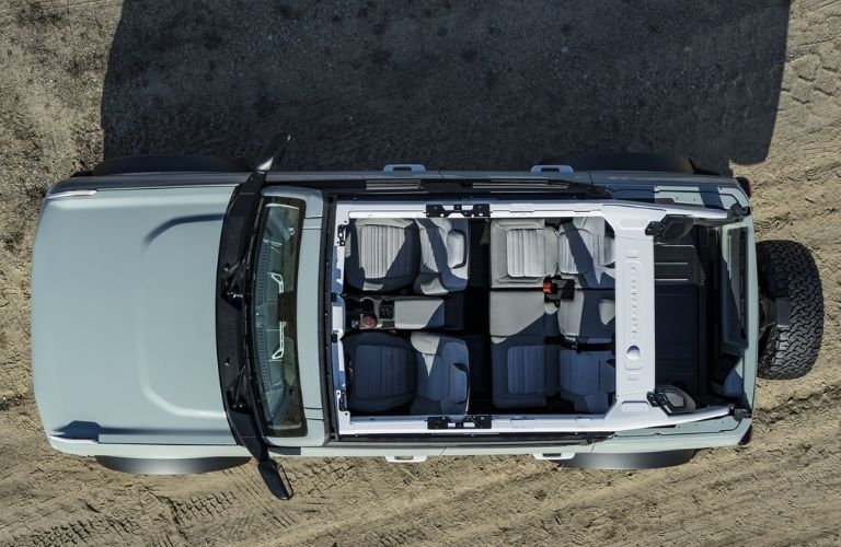 2021 Ford Bronco top down view