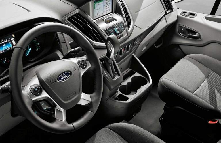 Dashboard and Grey Seats of 2018 Ford Transit Cutaway