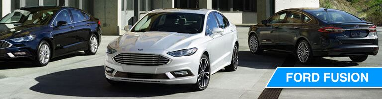 Navy Blue, White and Black 2018 Ford Fusion Vehicles