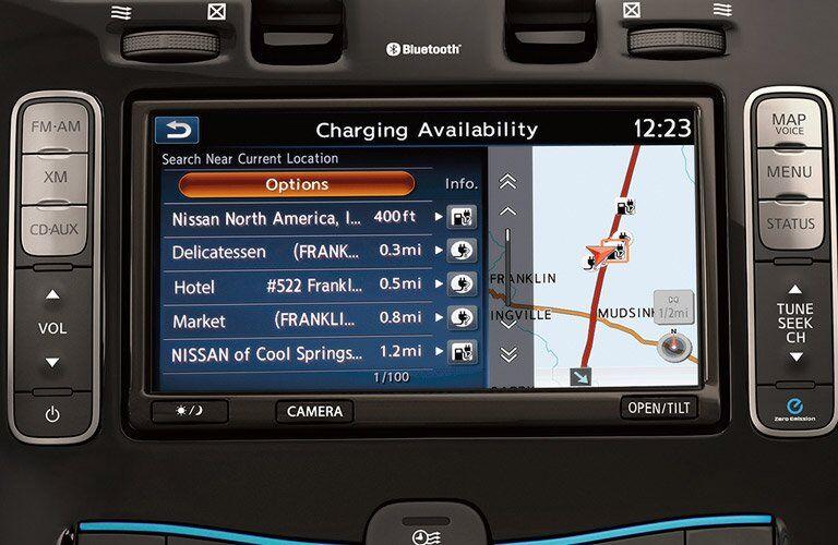2017 Nissan LEAF navigation system