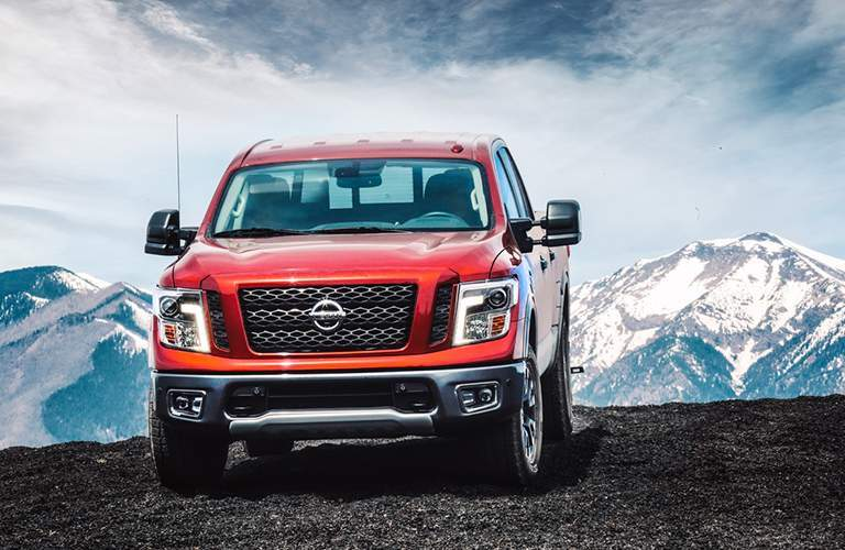2018 Nissan Titan parked on top of a mountain