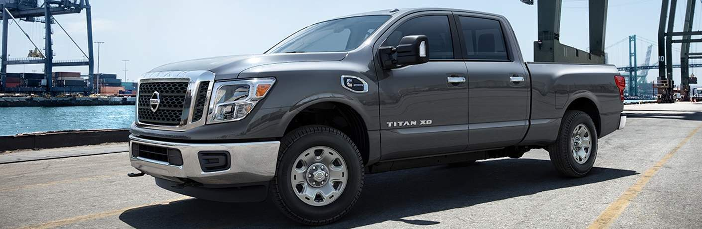2018 nissan titan xd full view while driving by water