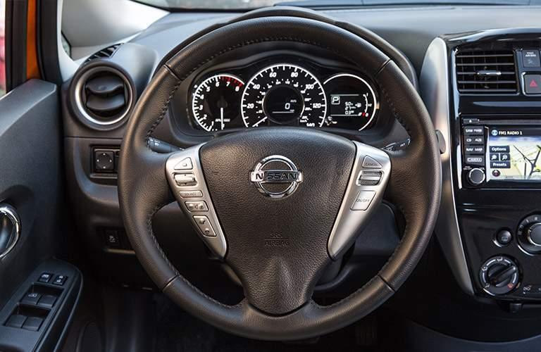 2018 Nissan Versa Note steering wheel and gauges