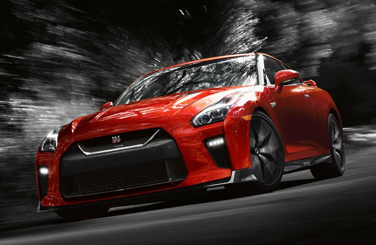 2018 Nissan GT-R driving on road