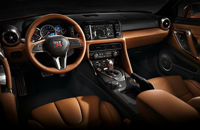 2018 Nissan GT-R front dashboard