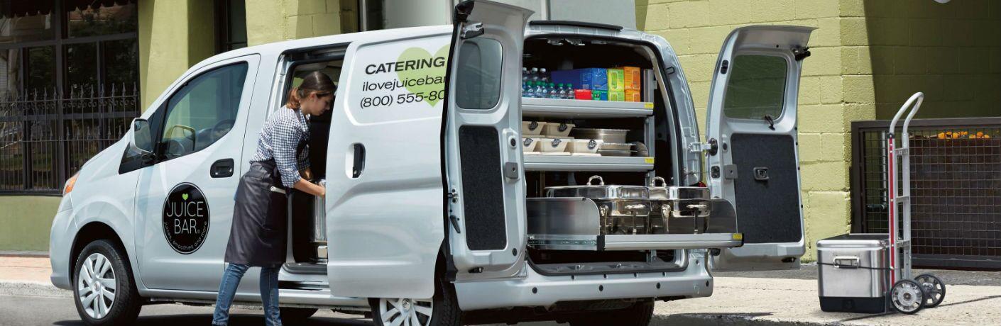 2019 Nissan NV200 Compact Cargo Van with rear doors open