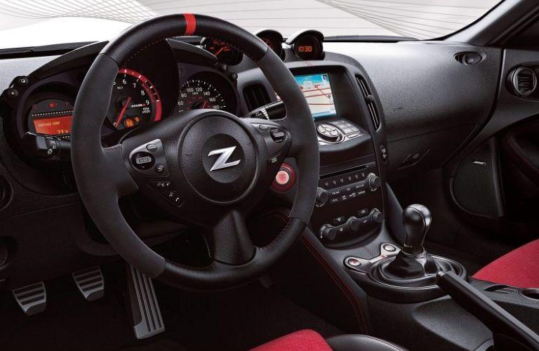 2019 Nissan 370Z Nismo steering wheel and dashboard