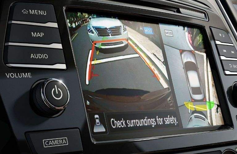 2019 Nissan Maxima rear view camera screen showing behind vehicle