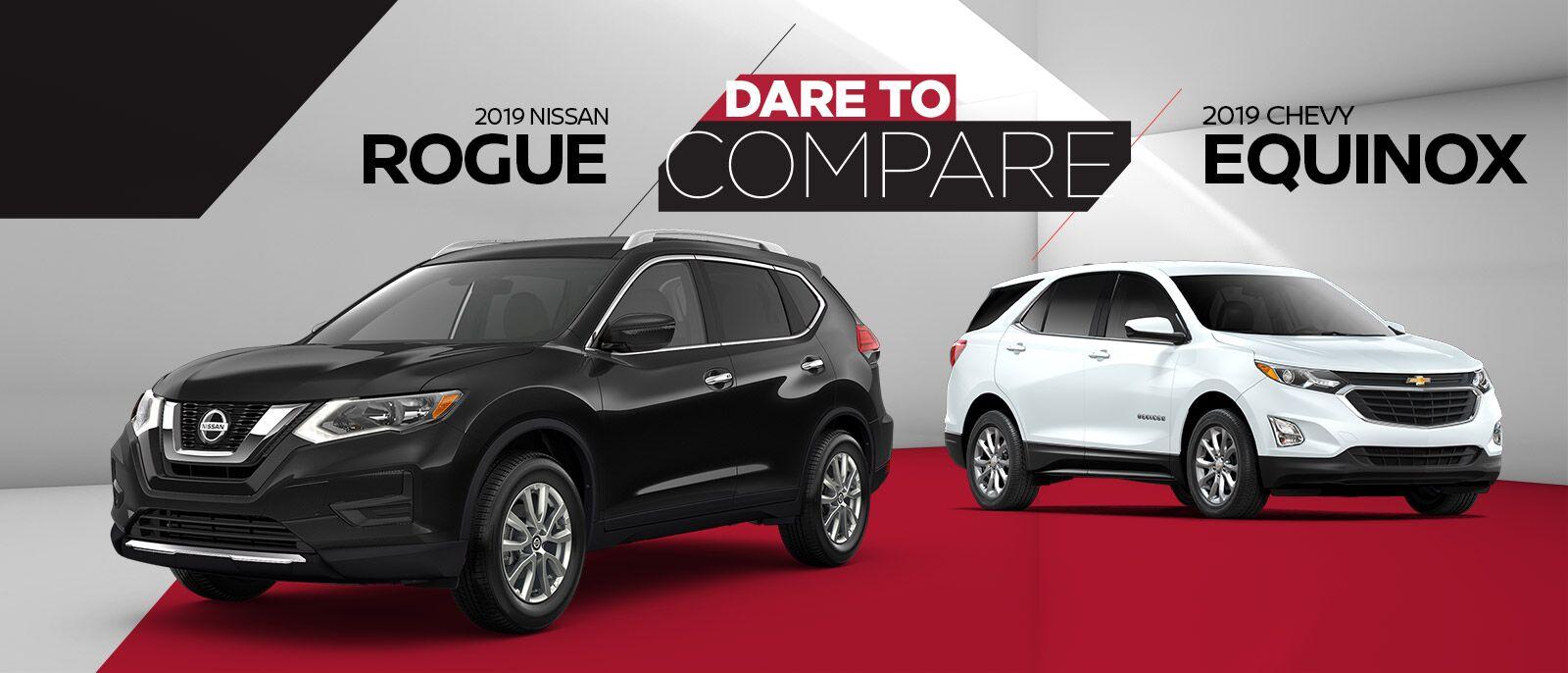 2019 Nissan Rogue vs 2019 Chevrolet Equinox
