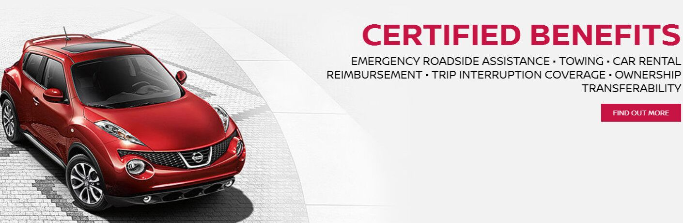 Nissan Juke with Certified Pre-Owned benefits working