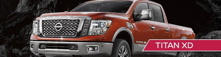 2018 Nissan Titan XD with banner in bottom right corner
