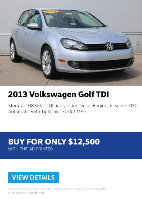 2013 Volkswagen Golf TDI