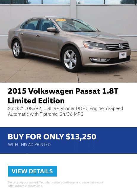 2015 Volkswagen Passat 18.T Limited Edition