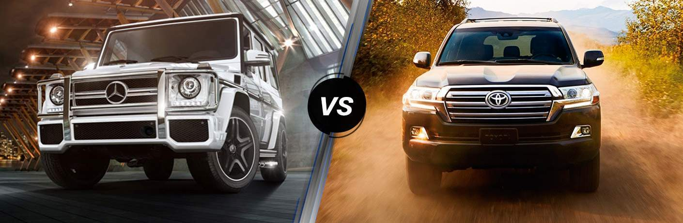 2017 Mercedes-Benz G-Class vs 2017 Toyota Land Cruiser