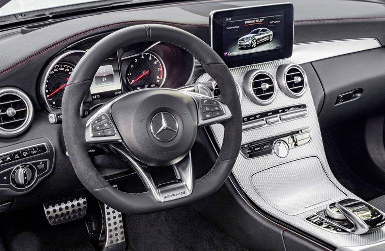 Close up of the 2017 Mercedes-Benz C-Class' dashboard