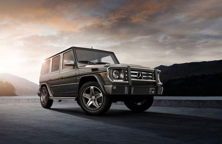 2017 Mercedes-Benz G 550 on the road