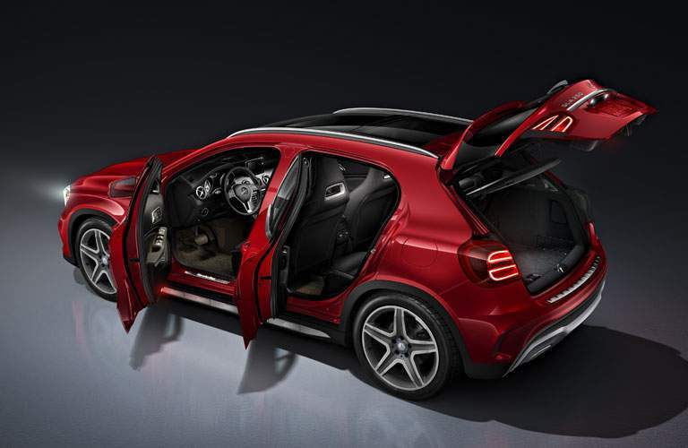 2018 Mercedes-Benz GLA 250 with open doors and hatch