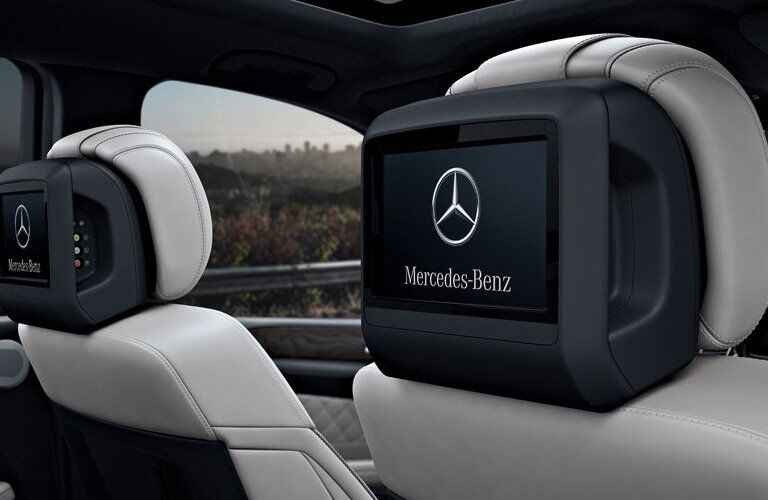 2017 Mercedes-Benz GLS headrest screens