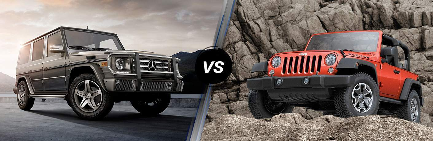 2017 mercedes benz g 550 vs 2018 jeep wrangler rubicon