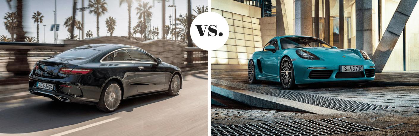 2019 Mercedes-Benz E 450 Coupe vs 2019 Porsche 718 Cayman