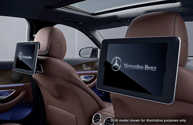 2019 Mercedes-Benz E 300 rear entertainment system